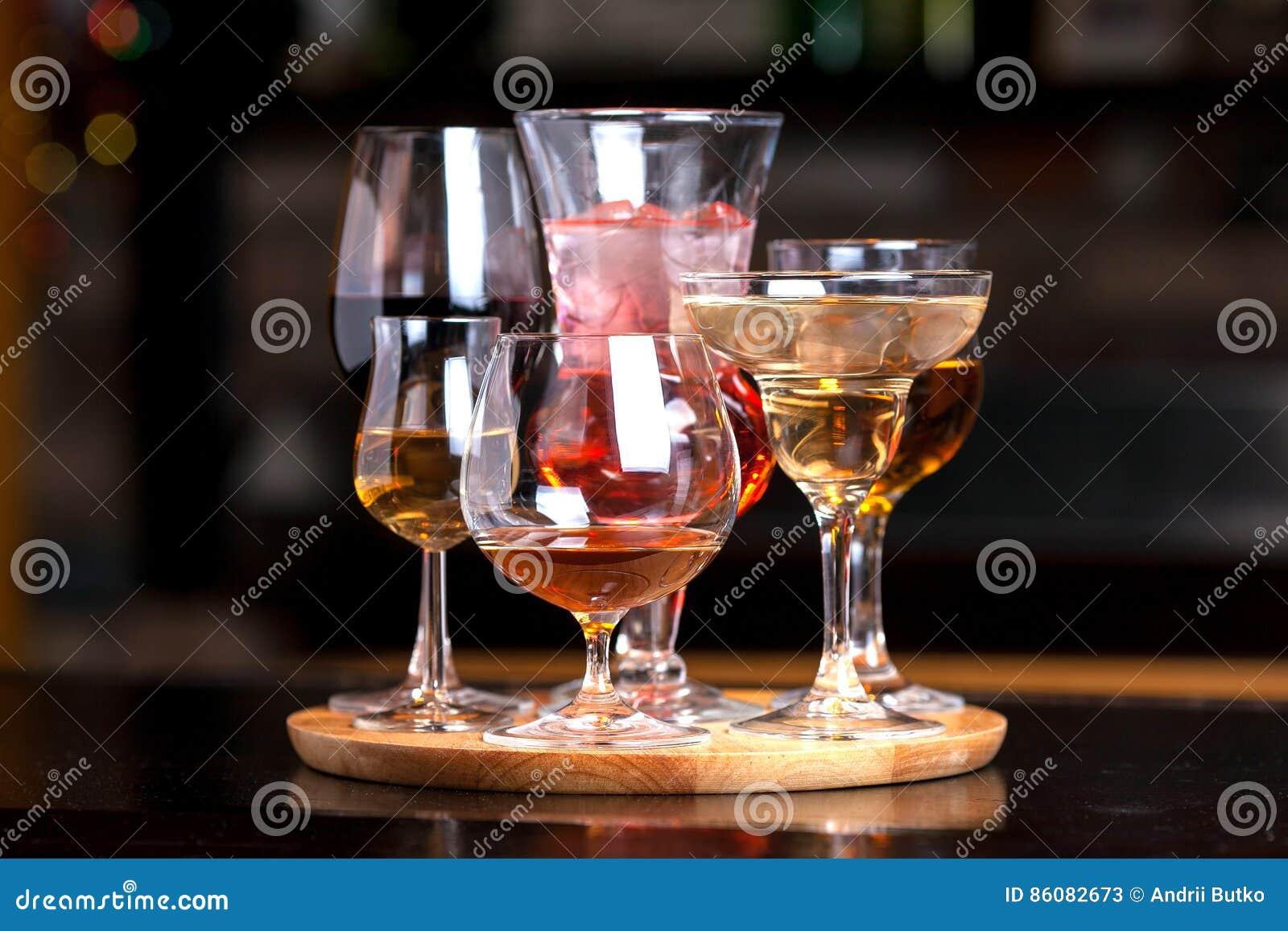 Vidrios con alcohol