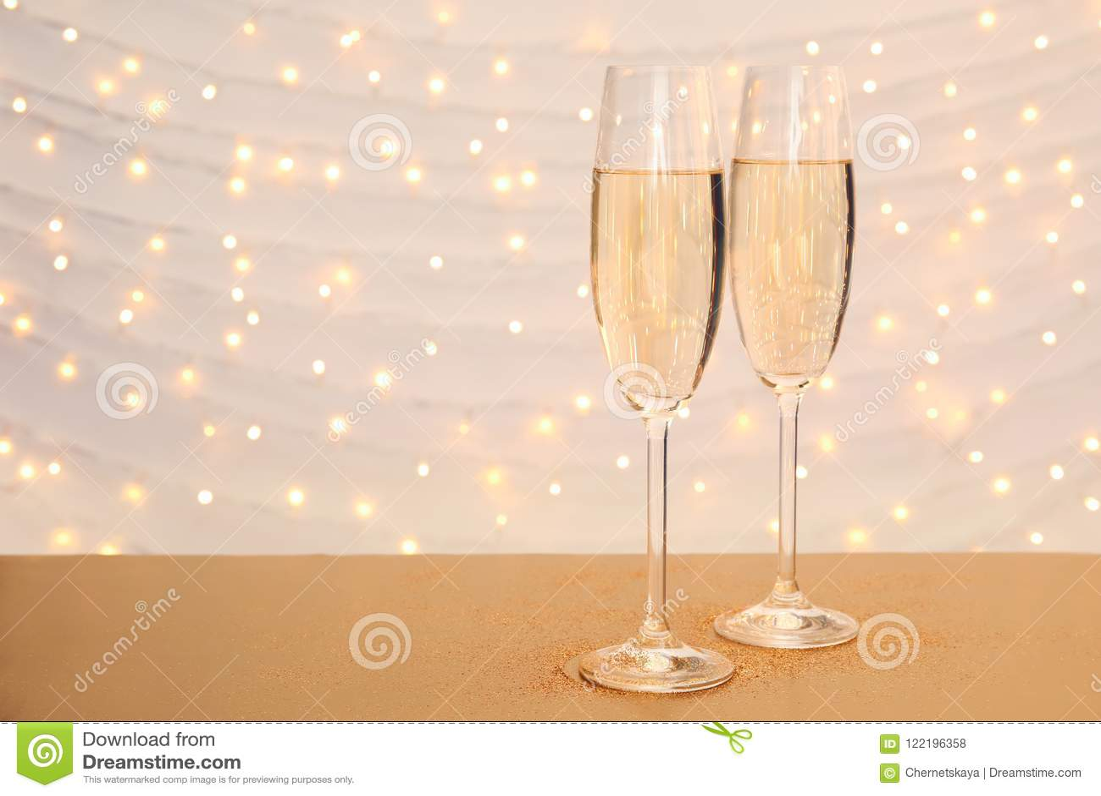 Vidrios de champán