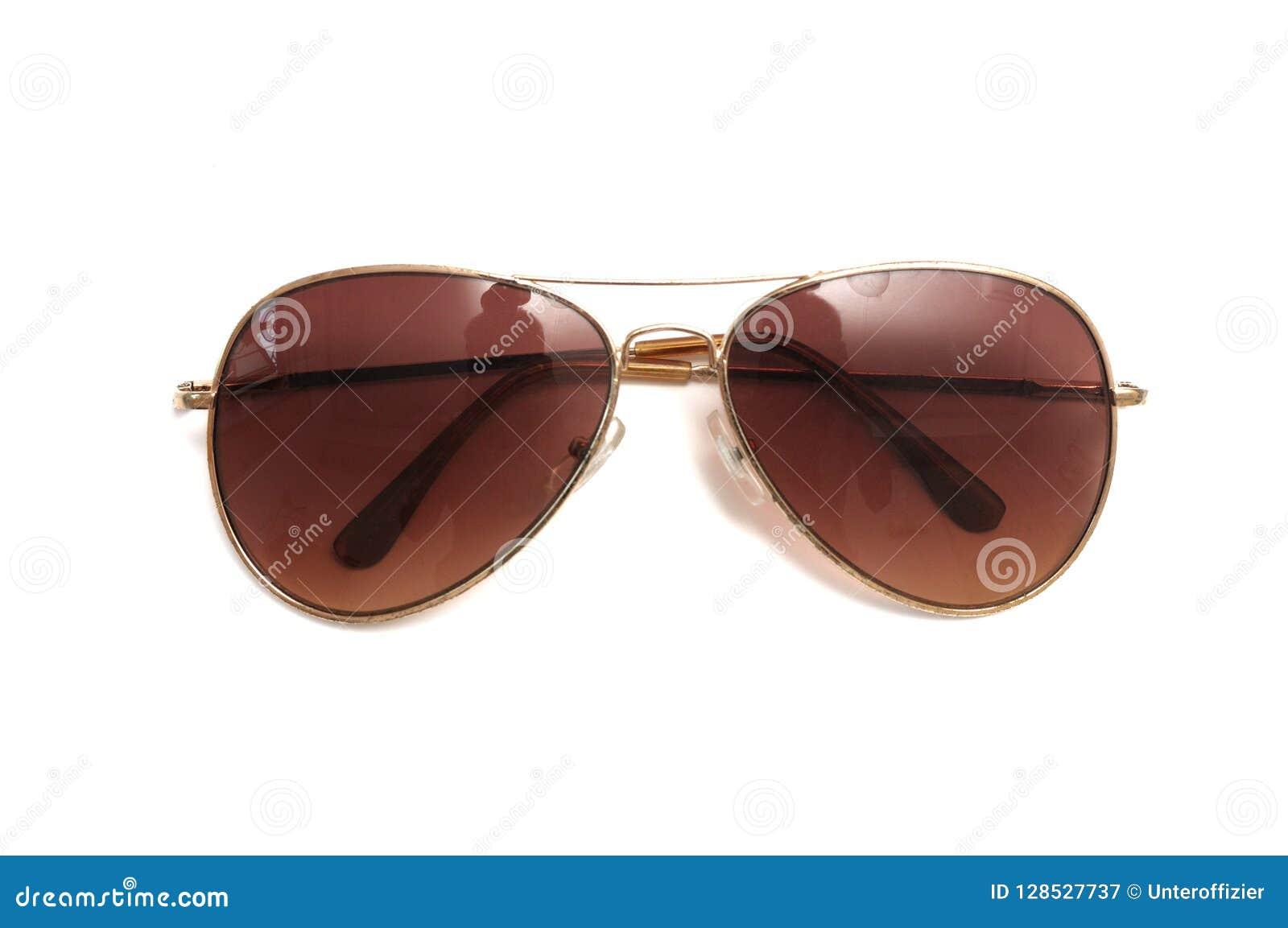 Vidrios del marrón del aviador del estilo de una sombra del sol