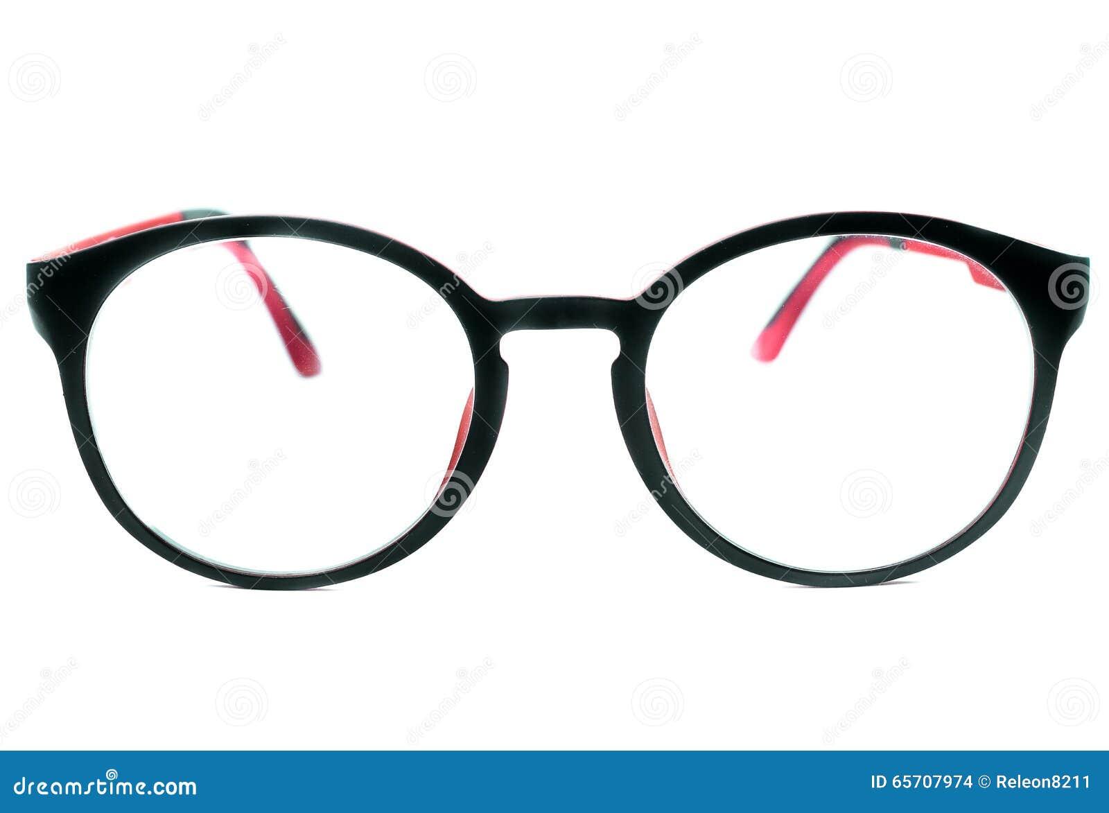 Vidrios del ojo morado aislados en el fondo blanco