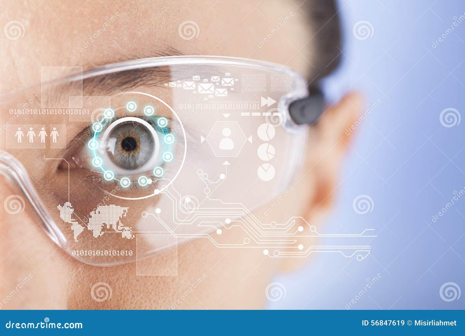 Vidrios elegantes futuristas