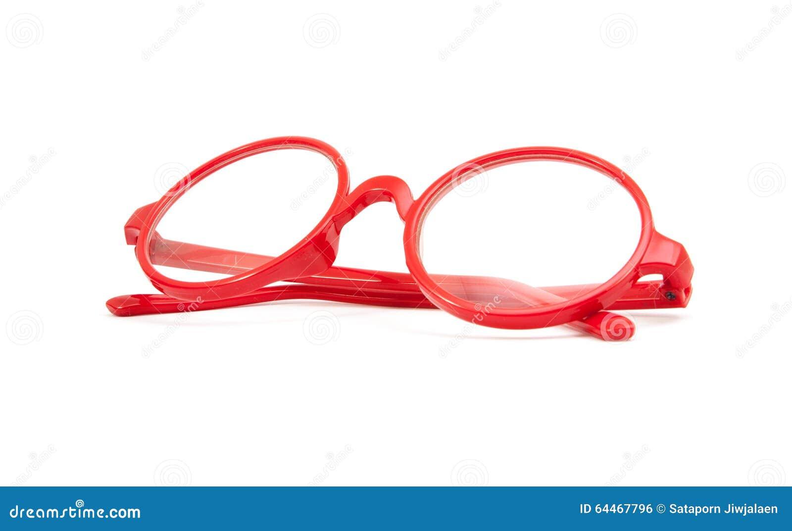 Vidrios Rojos De La Moda Aislados Foto de archivo - Imagen de marco ...