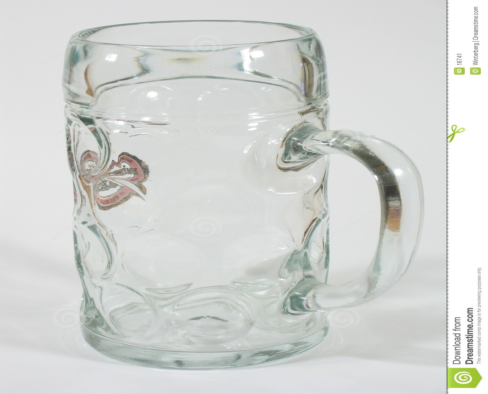 Vidro de cerveja vazio