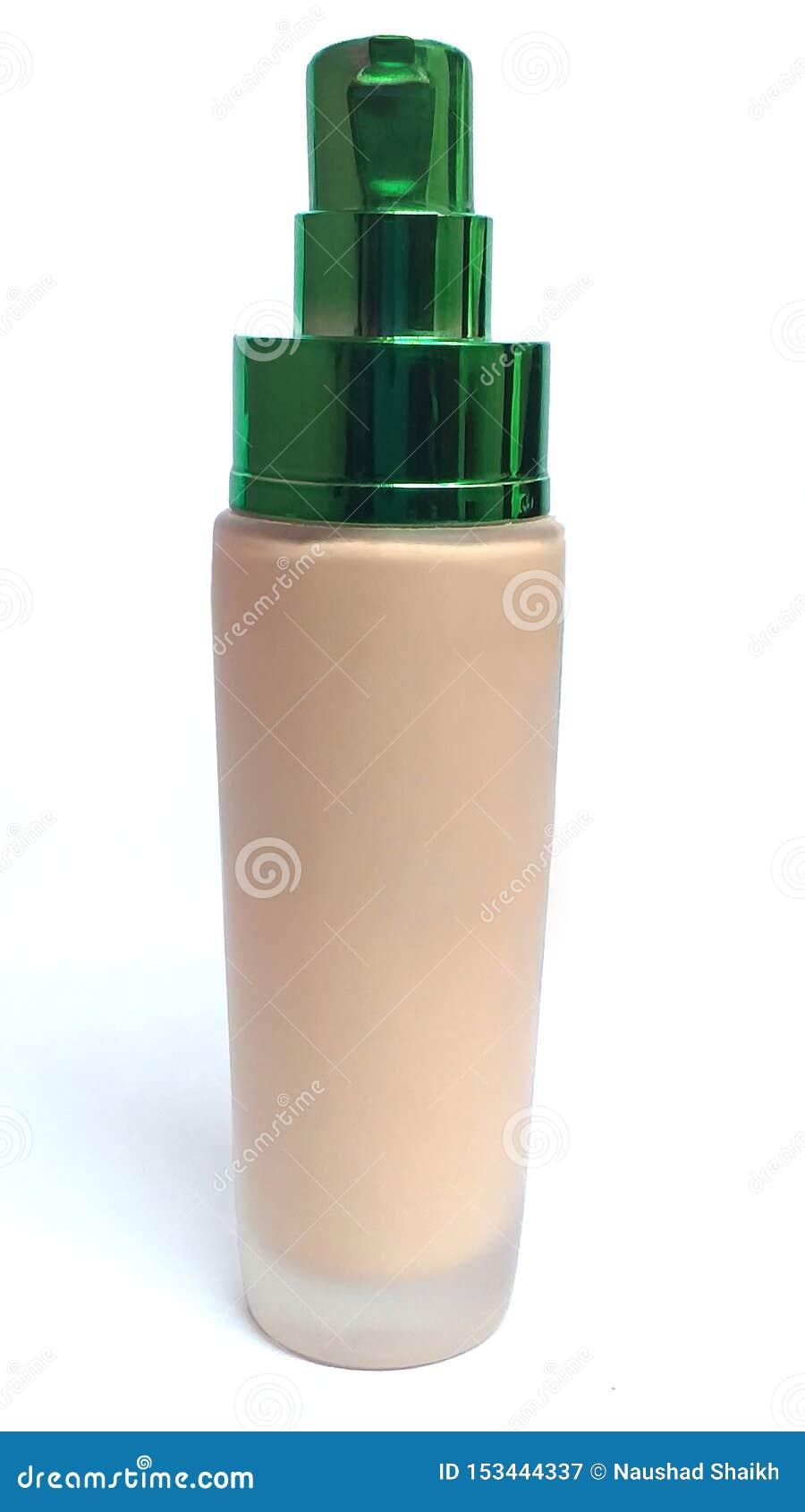 Vidro de garrafa novo com cabo verde