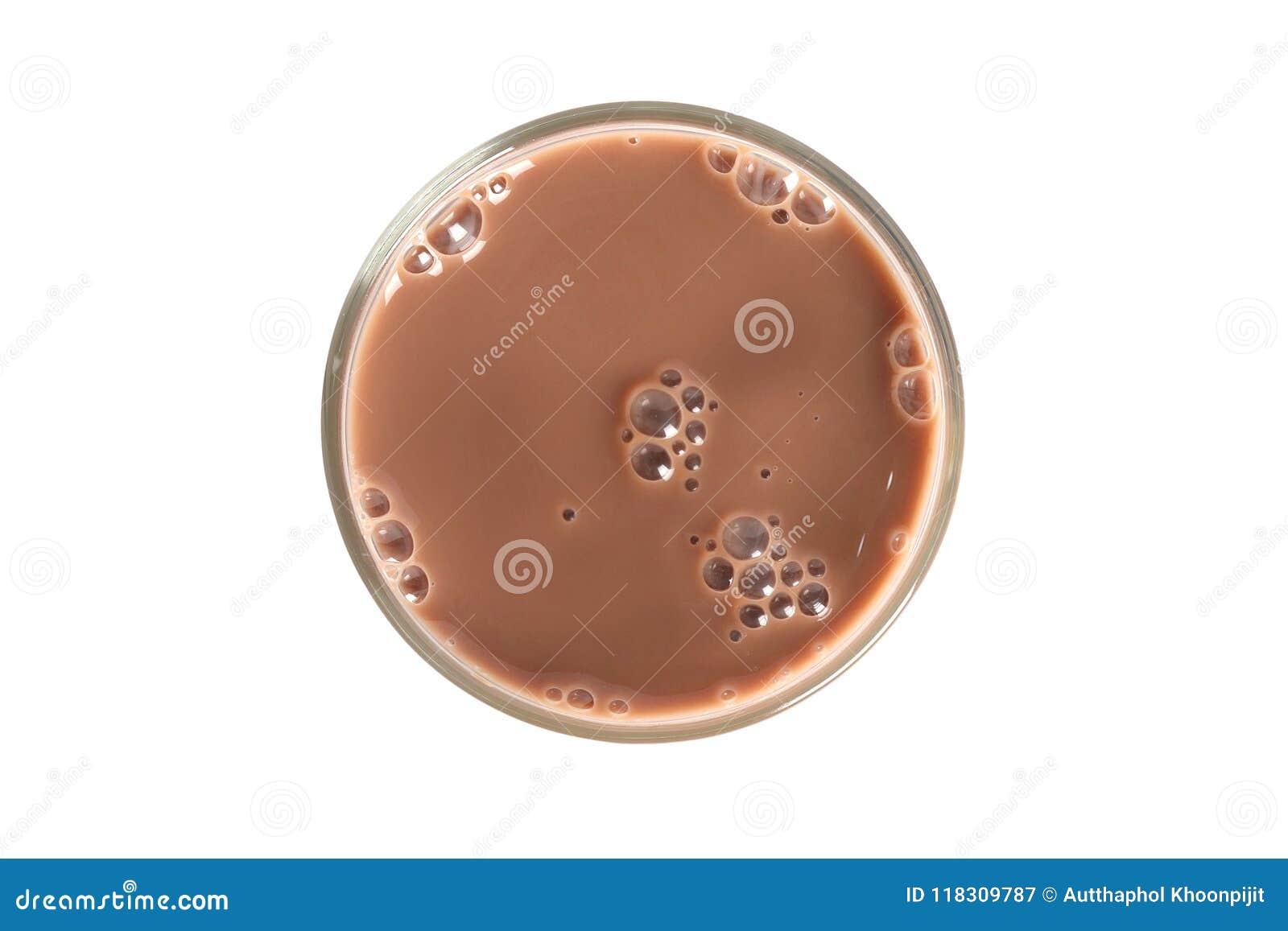 Vidro do leite de chocolate