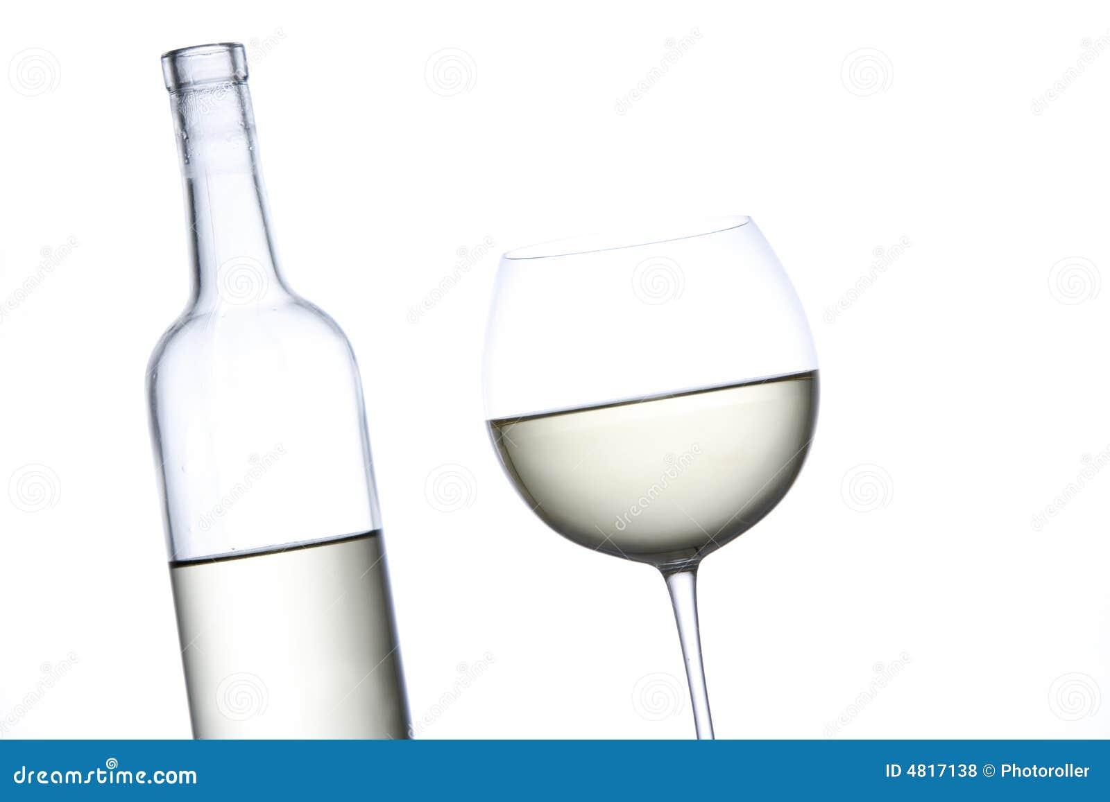 Vidro do vinho branco