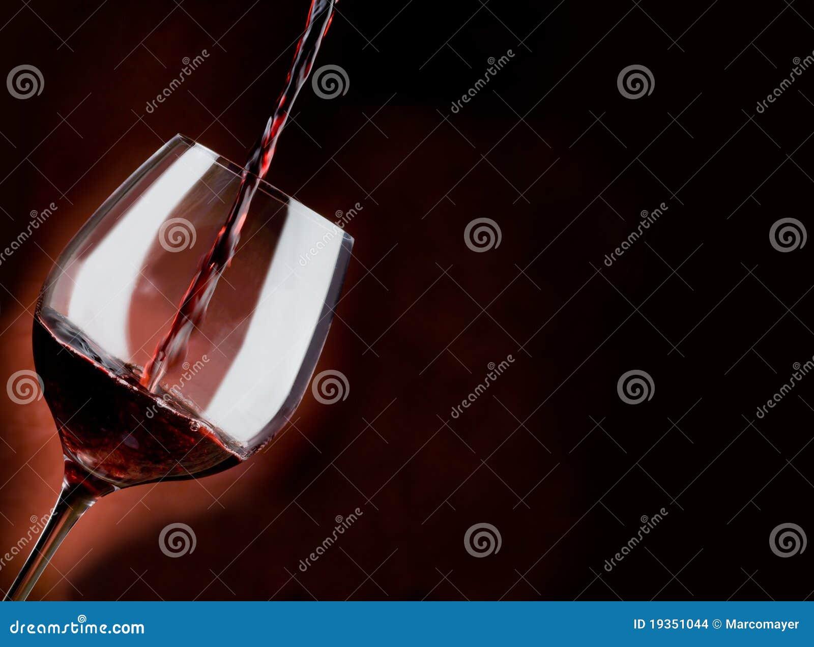 Vidro do vinho vermelho