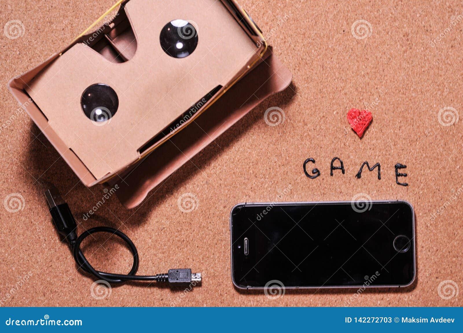 Vidros 3D para o jogo no telefone celular