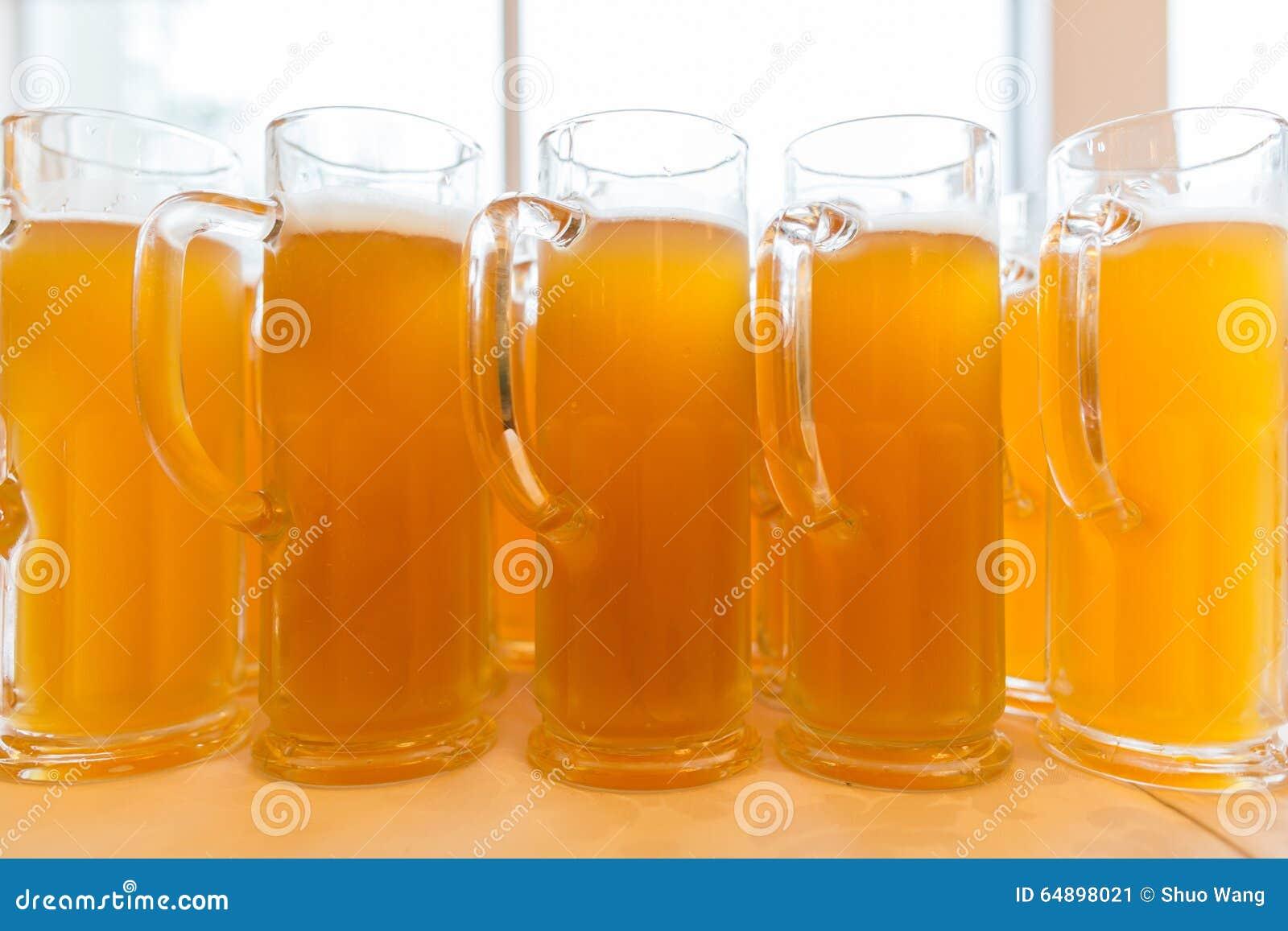 Vidros da cerveja