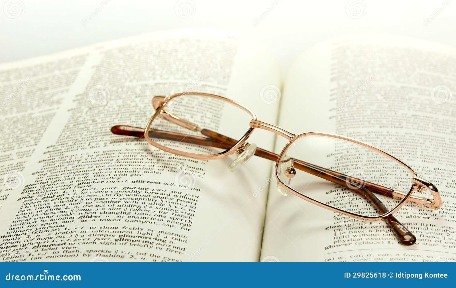 Vidros de bronze no dicionário