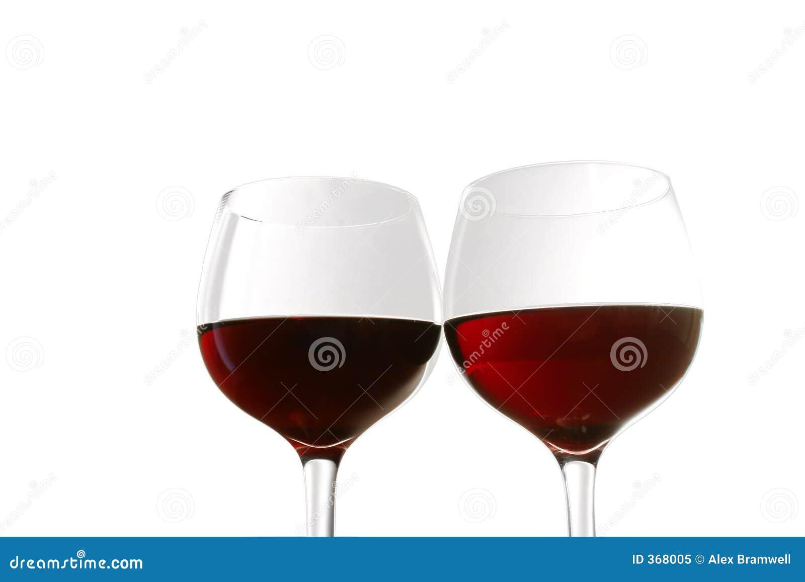 Vidros de vinho vermelho