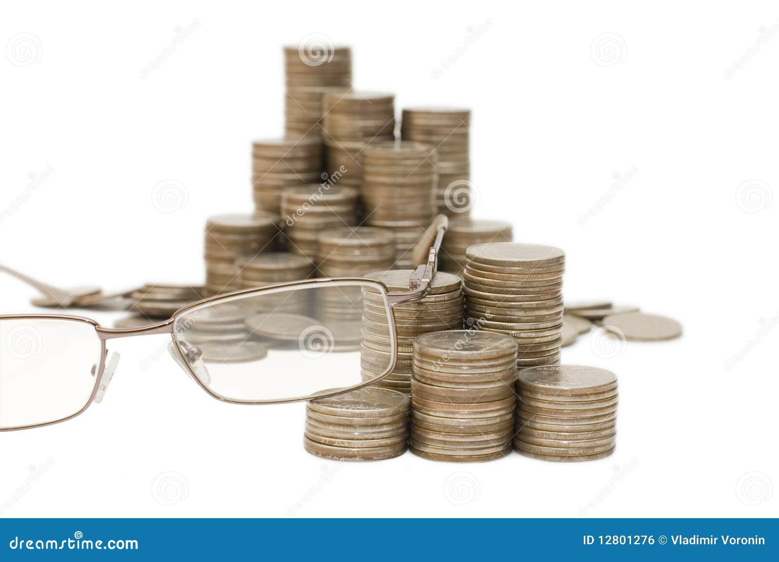 Vidros e moedas