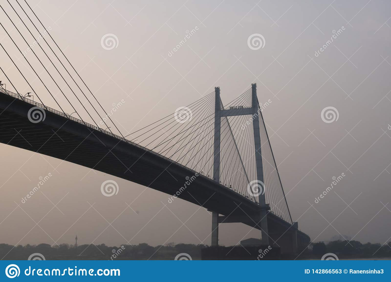 Vidyasagar Setu Bridge over Ganga-rivier, India