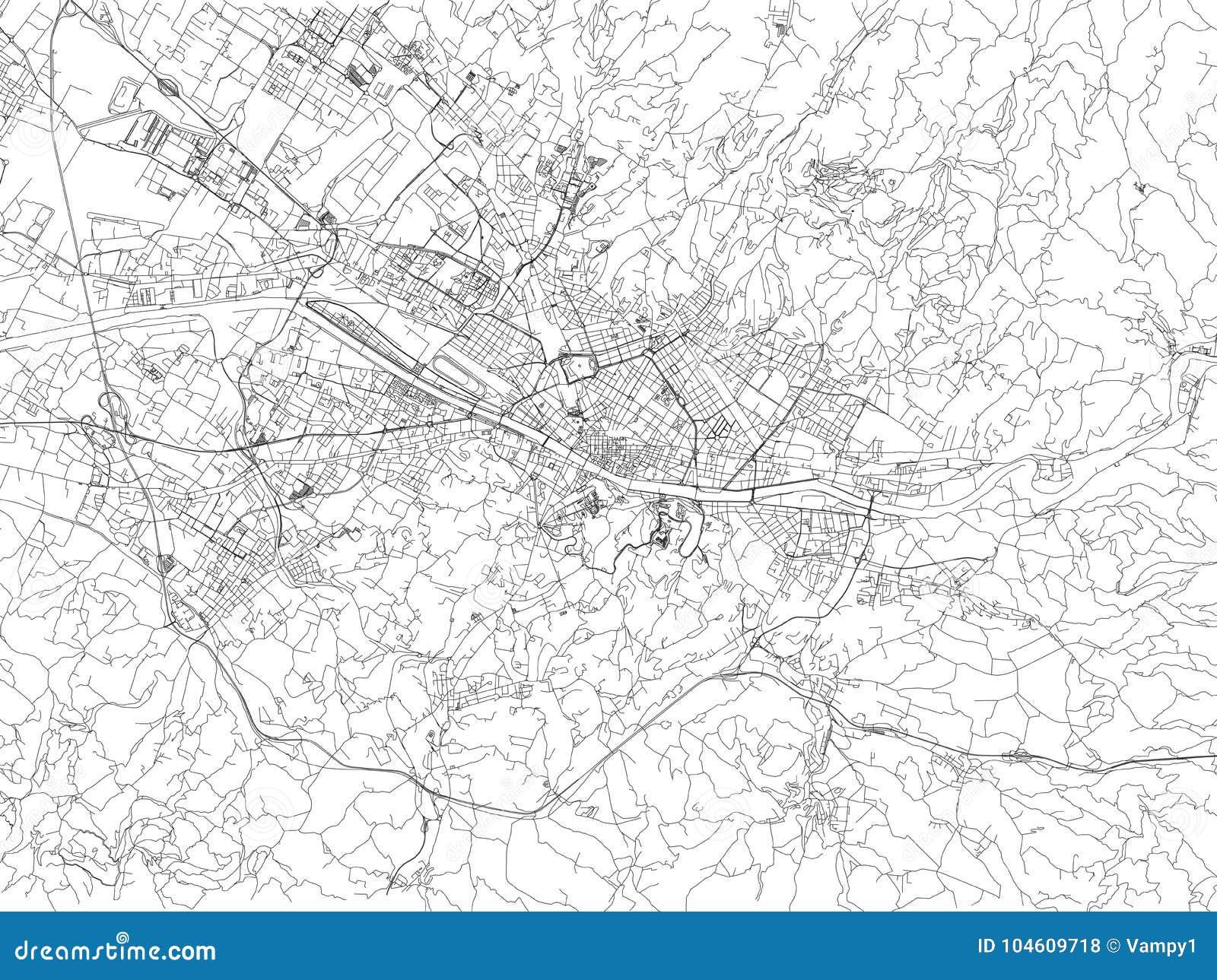 Cartina Di Firenze Con Tutte Le Vie.Vie Di Firenze Mappa Della Citta Toscana Italia