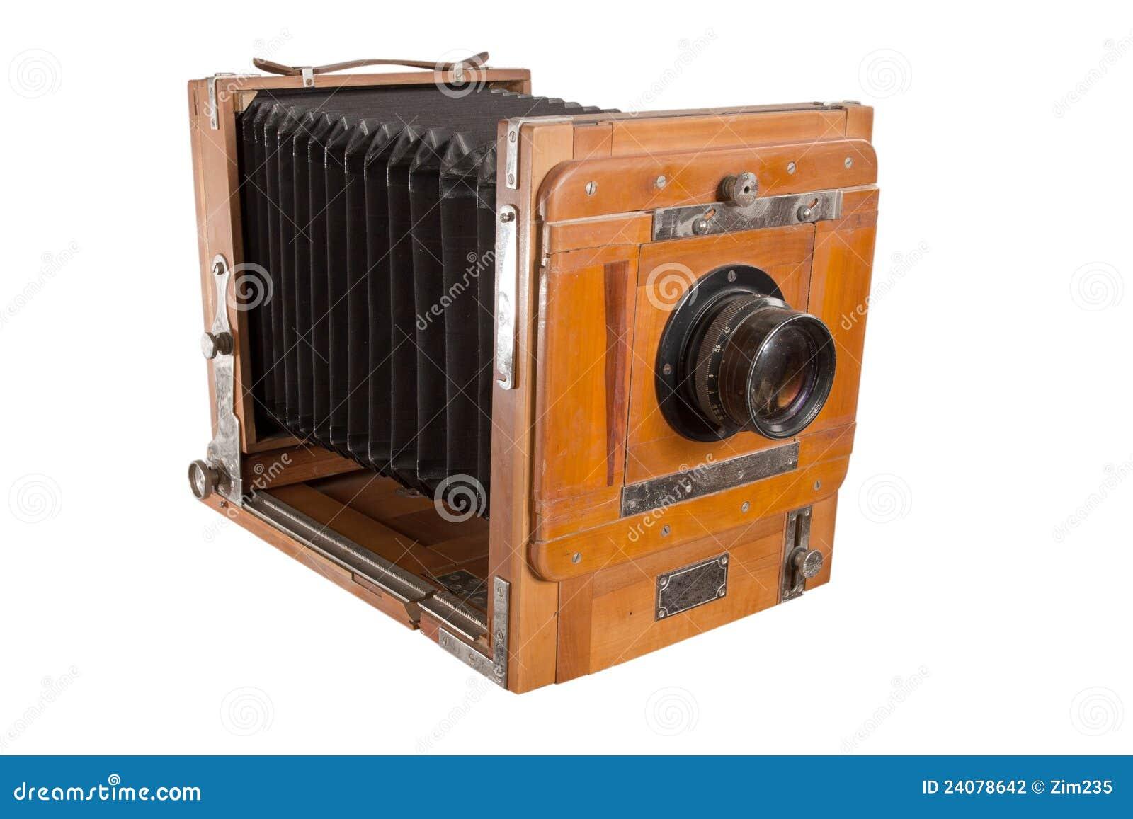 vieil appareil photo en bois photo stock image 24078642. Black Bedroom Furniture Sets. Home Design Ideas