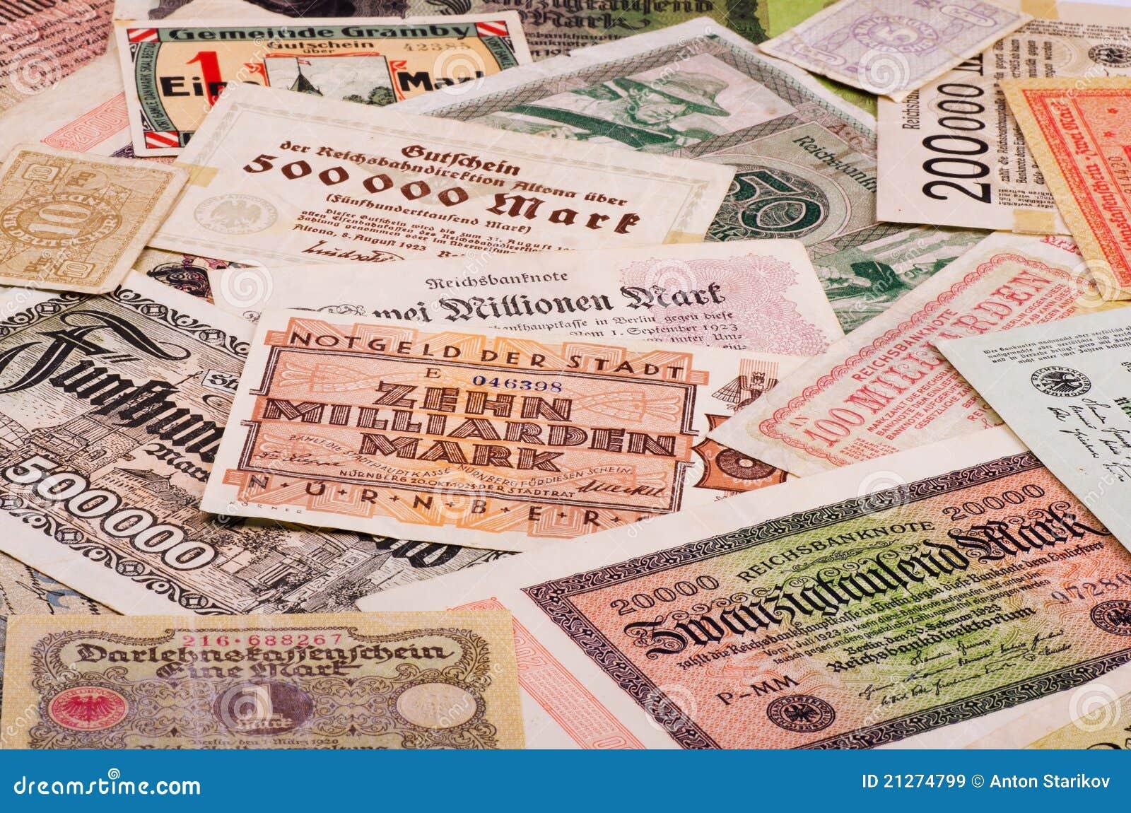 Vieil argent allemand