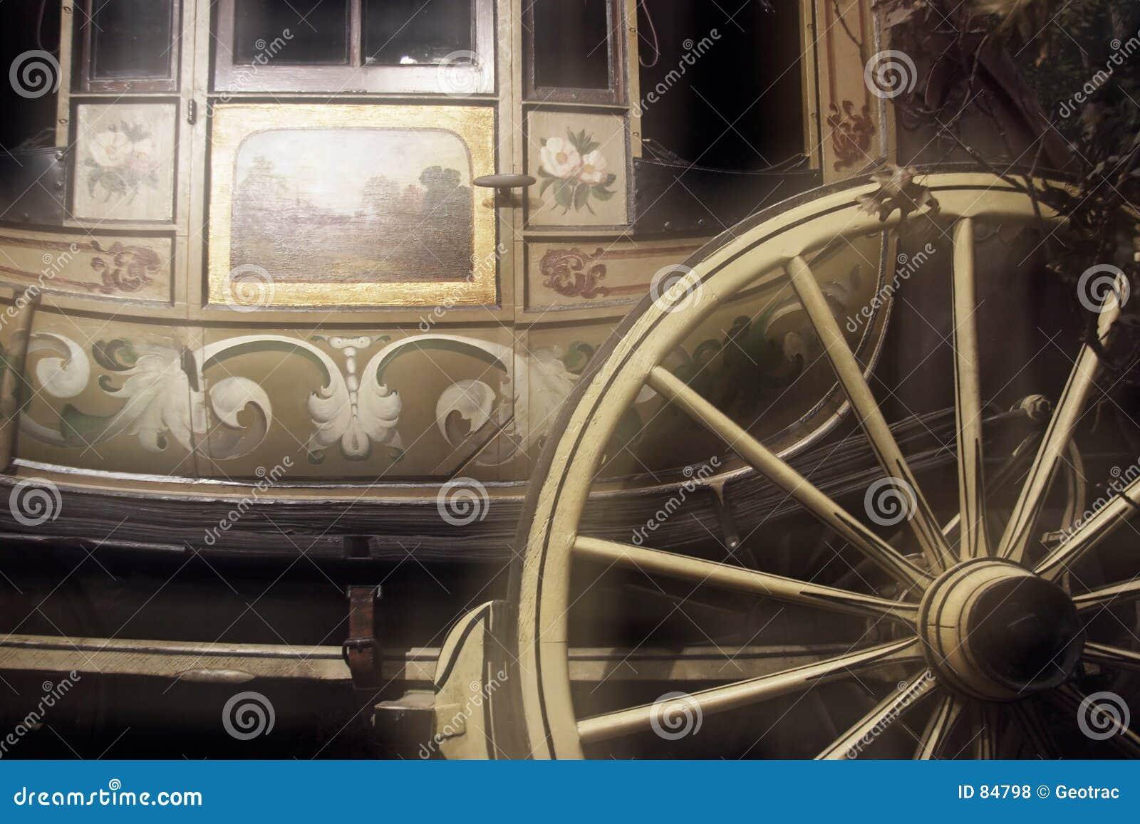 Vieil autocar d étape