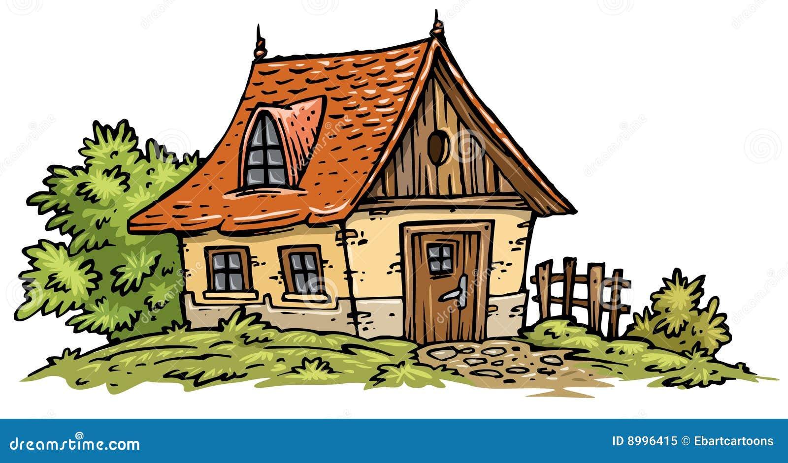 Vieil Clip-art De Maison Photo libre de droits - Image ...