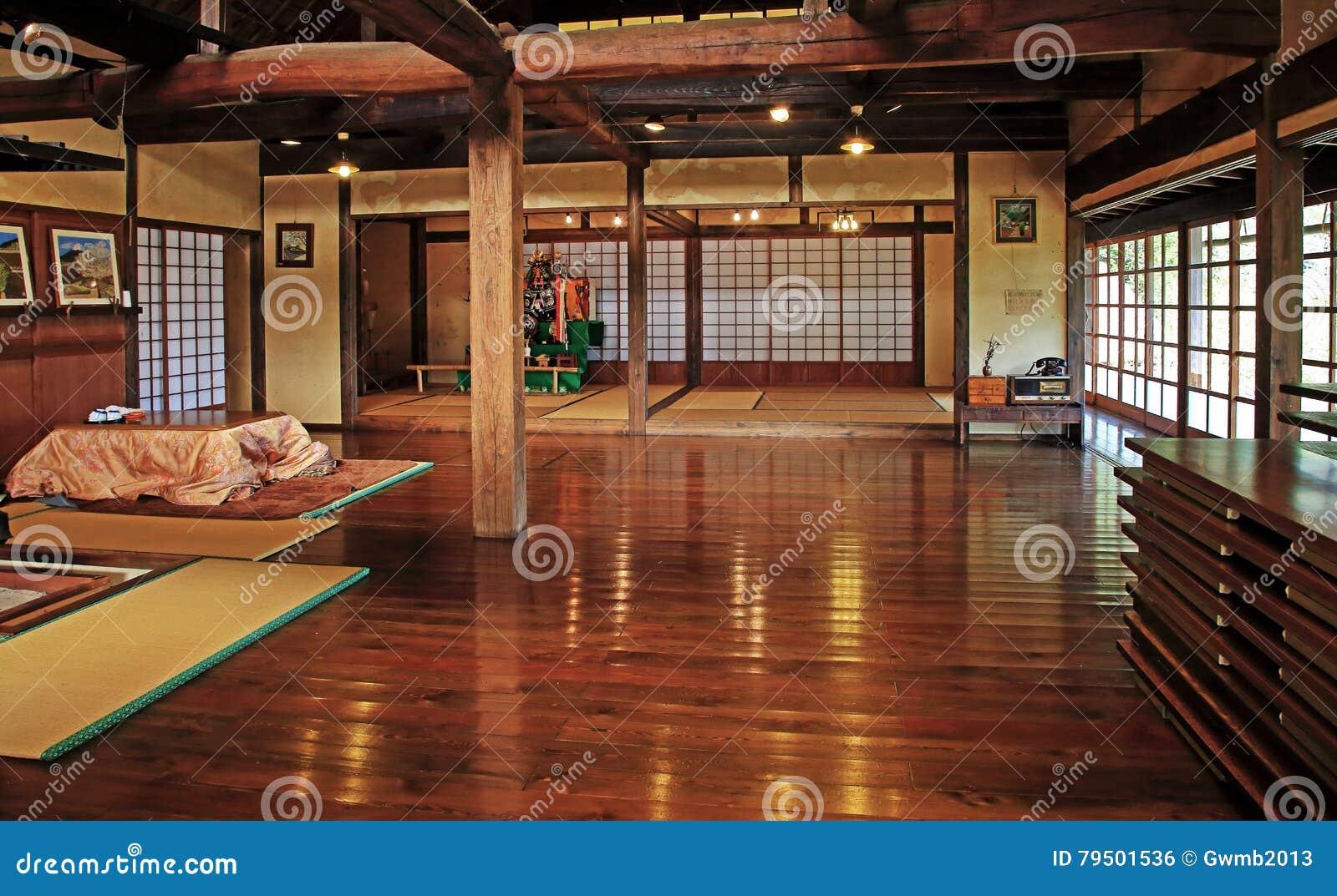 Vieil Intérieur Japonais Traditionnel De Chambre Photo ...