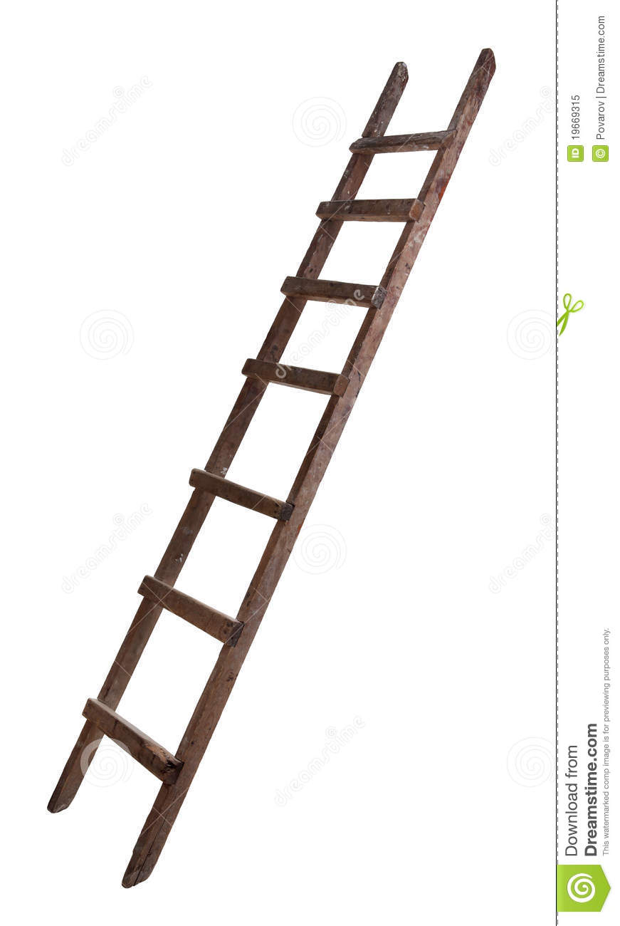 Echelle En Bois Vintage : Old Wooden Ladder Clip Art