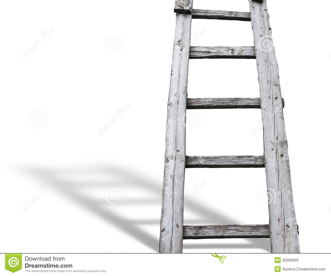 Echelle En Bois Vintage : Photography Old Wooden Ladder