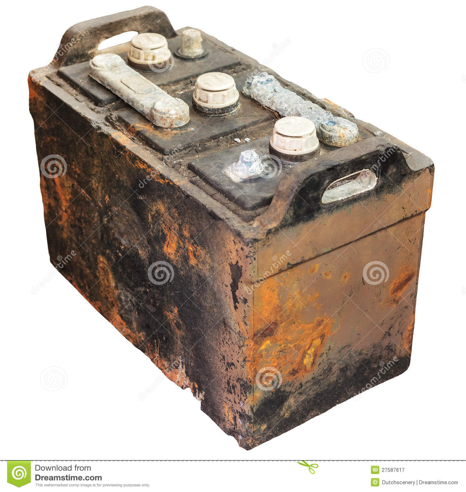 vieille batterie de voiture rouill e d 39 isolement sur le blanc image stock image du portatif. Black Bedroom Furniture Sets. Home Design Ideas
