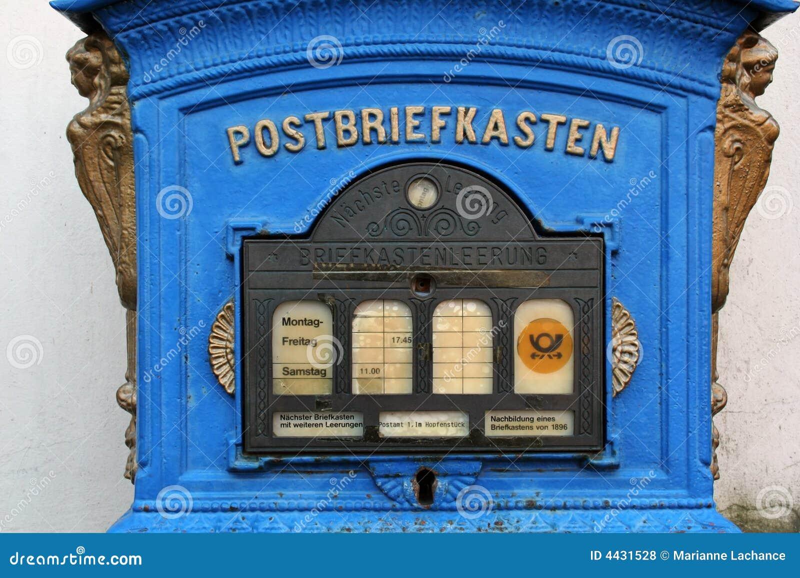 Vieille bo te aux lettres allemande photos libres de droits image 4431528 - Vieille boite aux lettres ...