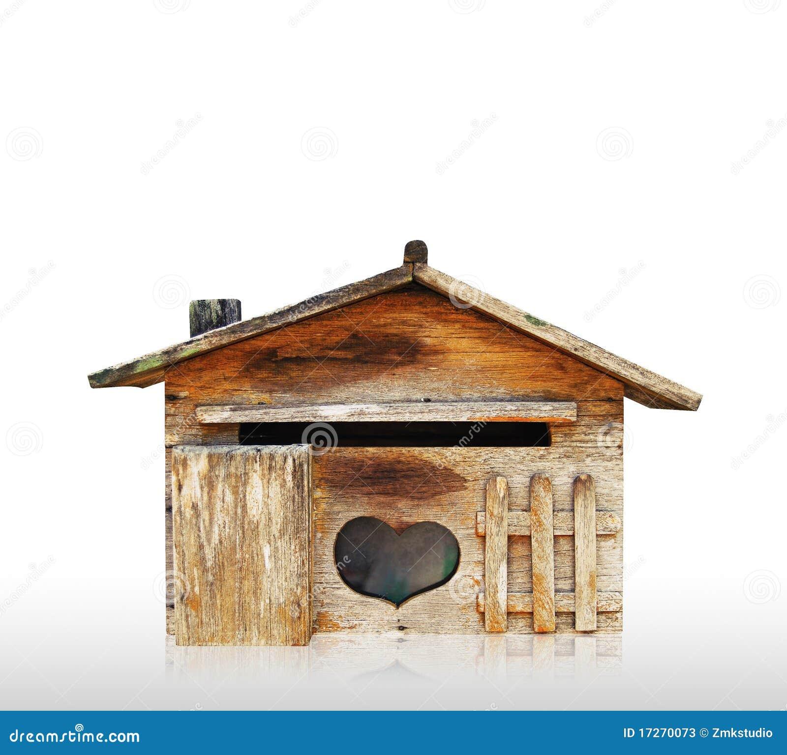 vieille bo te aux lettres de maison en bois d 39 isolement photos stock image 17270073. Black Bedroom Furniture Sets. Home Design Ideas