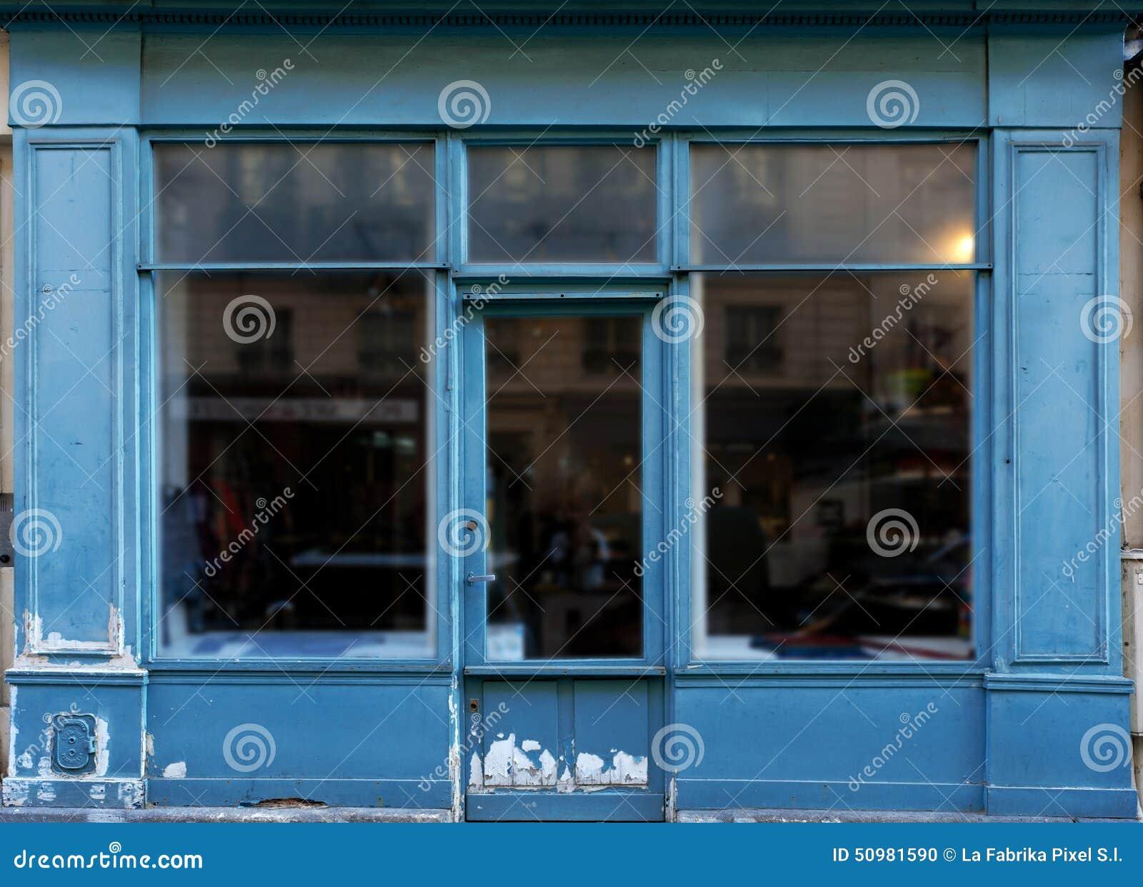 Vieille boutique bleue