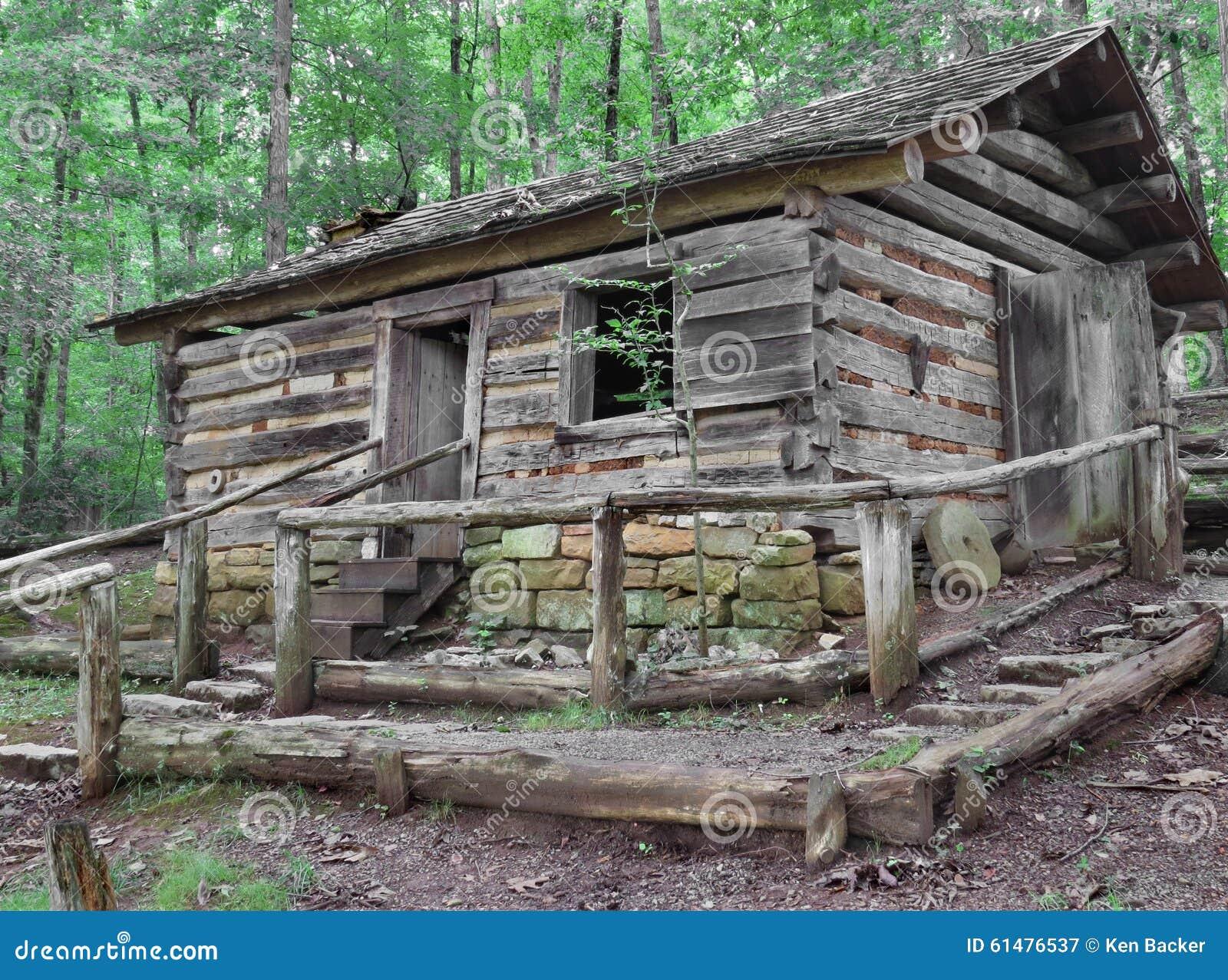 Cabins Plans Vieille Cabane En Rondins Sur La Colline En Bois Photo
