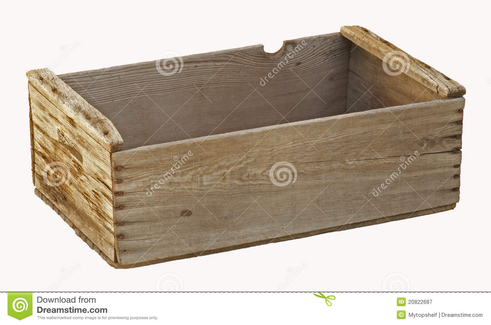 vieille caisse en bois vide de verger d 39 isolement image stock image du l gume conteneur. Black Bedroom Furniture Sets. Home Design Ideas