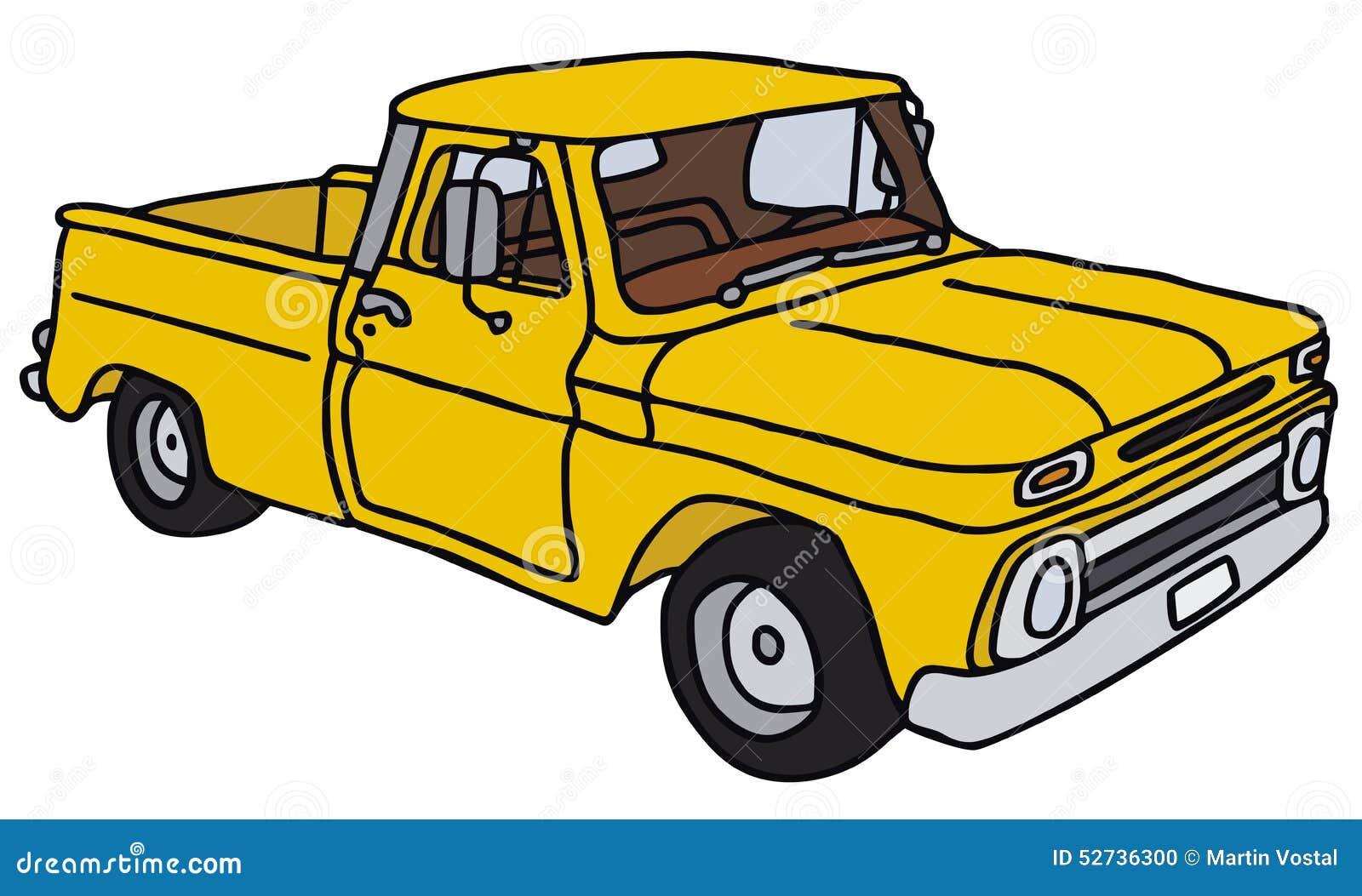 vieille camionnette de livraison jaune illustration de vecteur image 52736300. Black Bedroom Furniture Sets. Home Design Ideas
