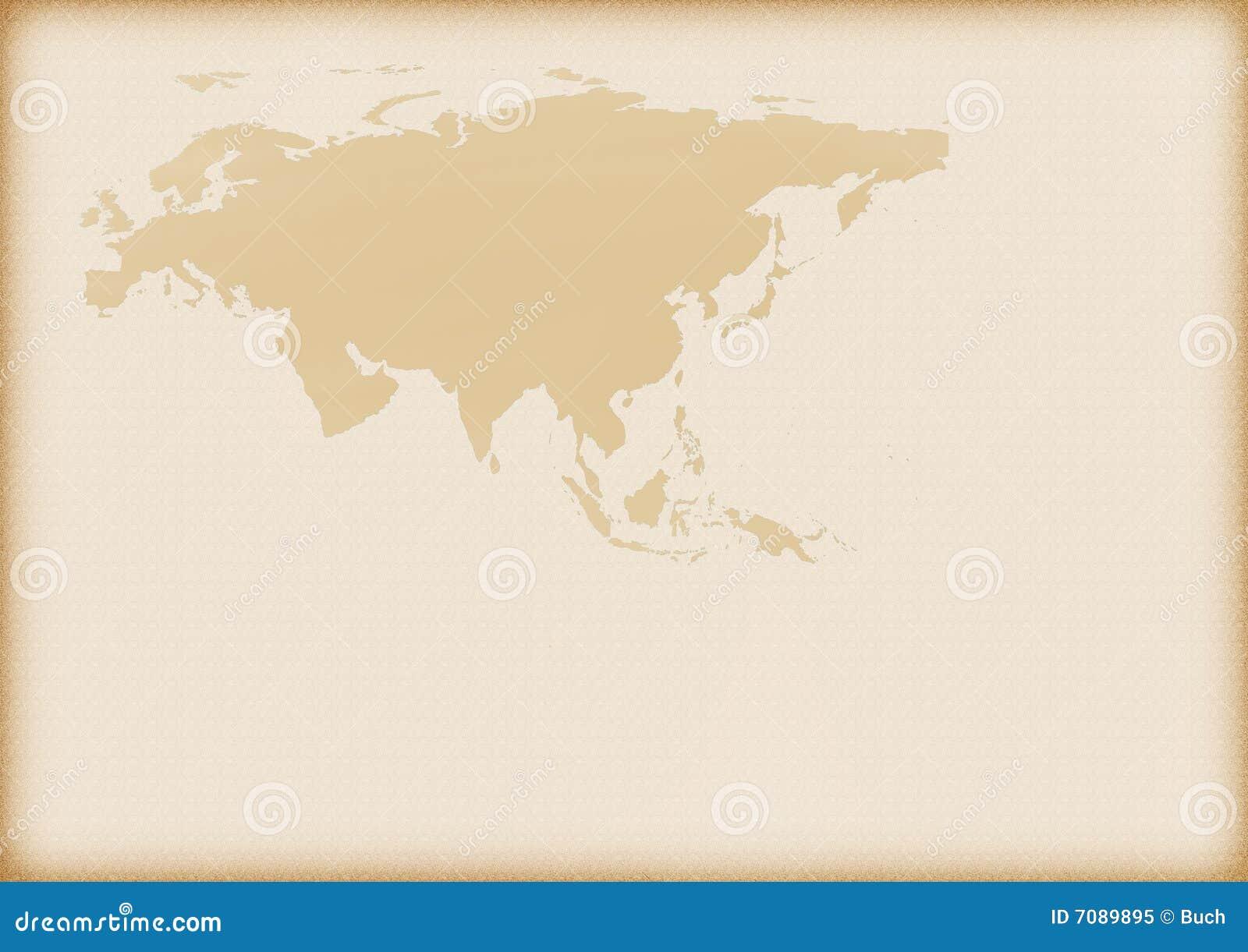 Vieille carte de l Europe et de l Asie