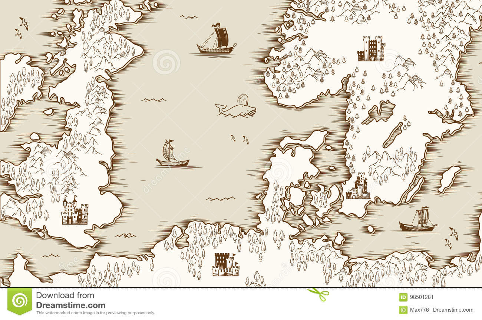 1cbf0179bb619 Vieille Carte De La Mer Du Nord, De La Grande-Bretagne Et De La ...