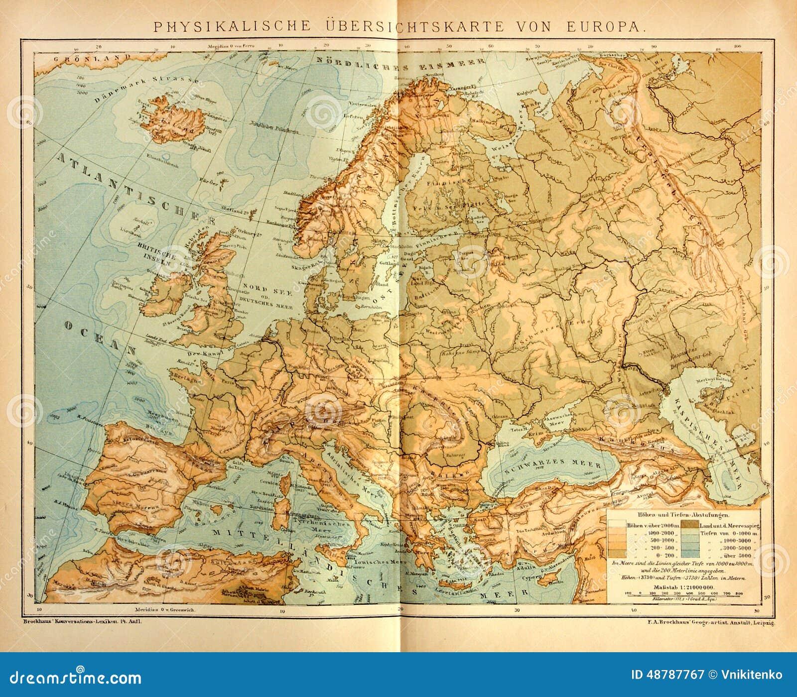 carte europe originale