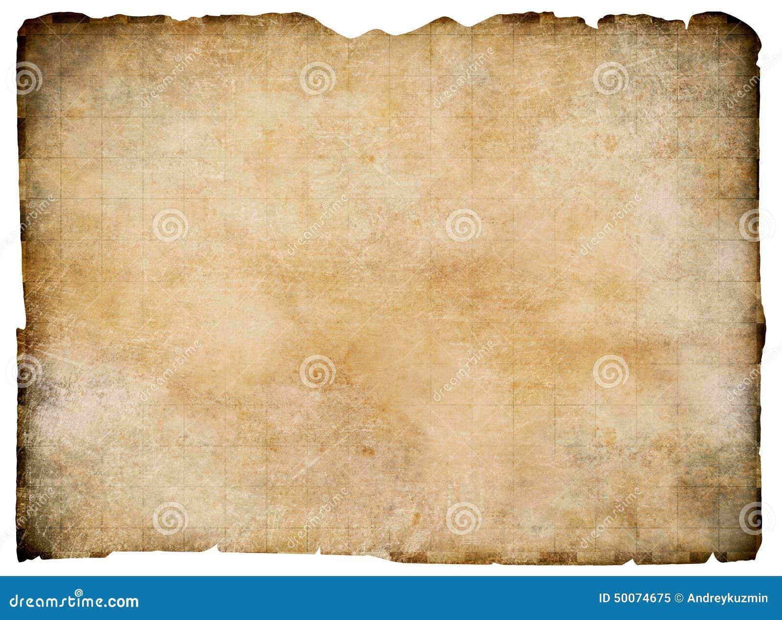 carte au trésor vide Vieille Carte Vide De Trésor De Parchemin D'isolement Image stock