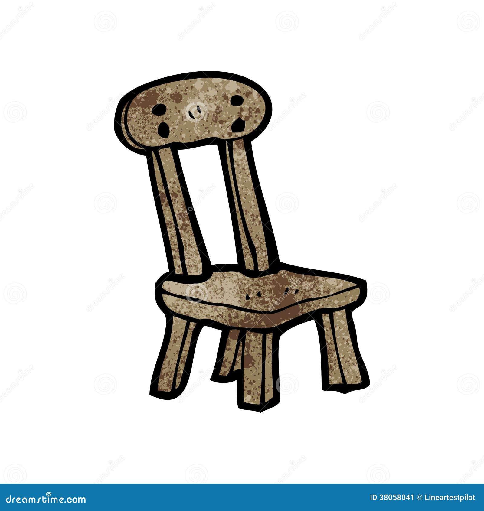 Vieille chaise en bois de bande dessin e image stock image 38058041 - Vieille chaise en bois ...