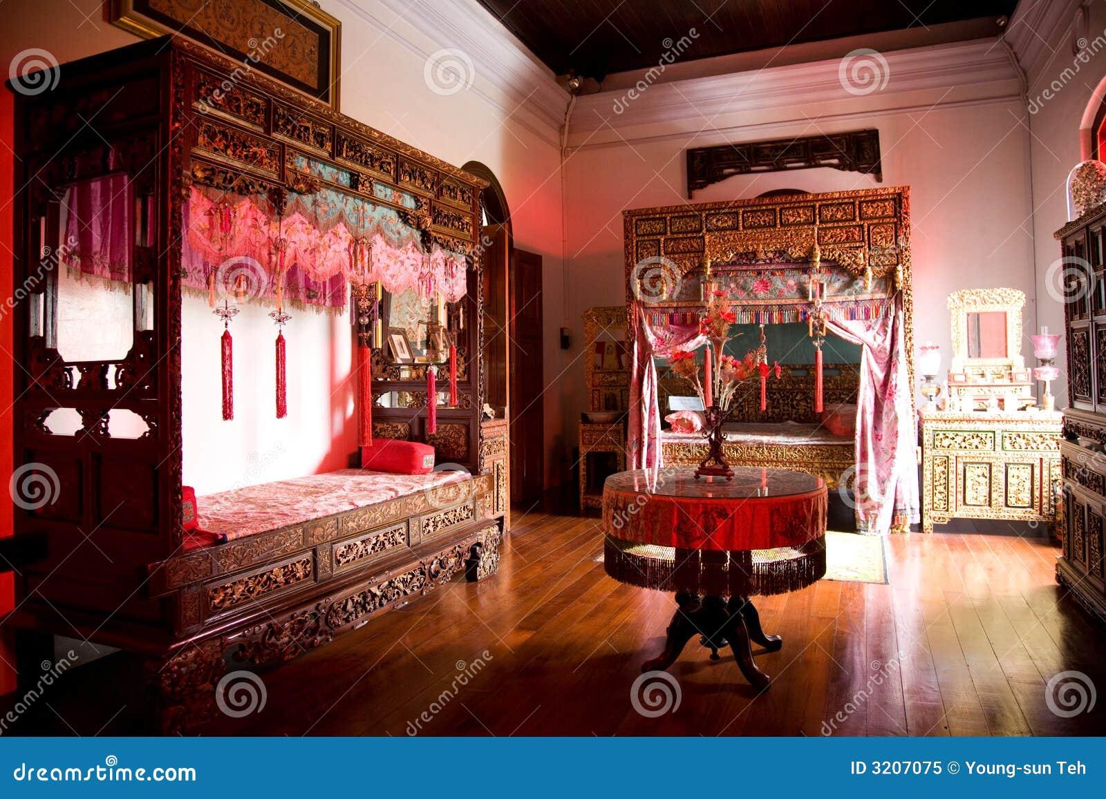 Vieille Chambre Chinoise De Mariage Image stock - Image du oriental ...