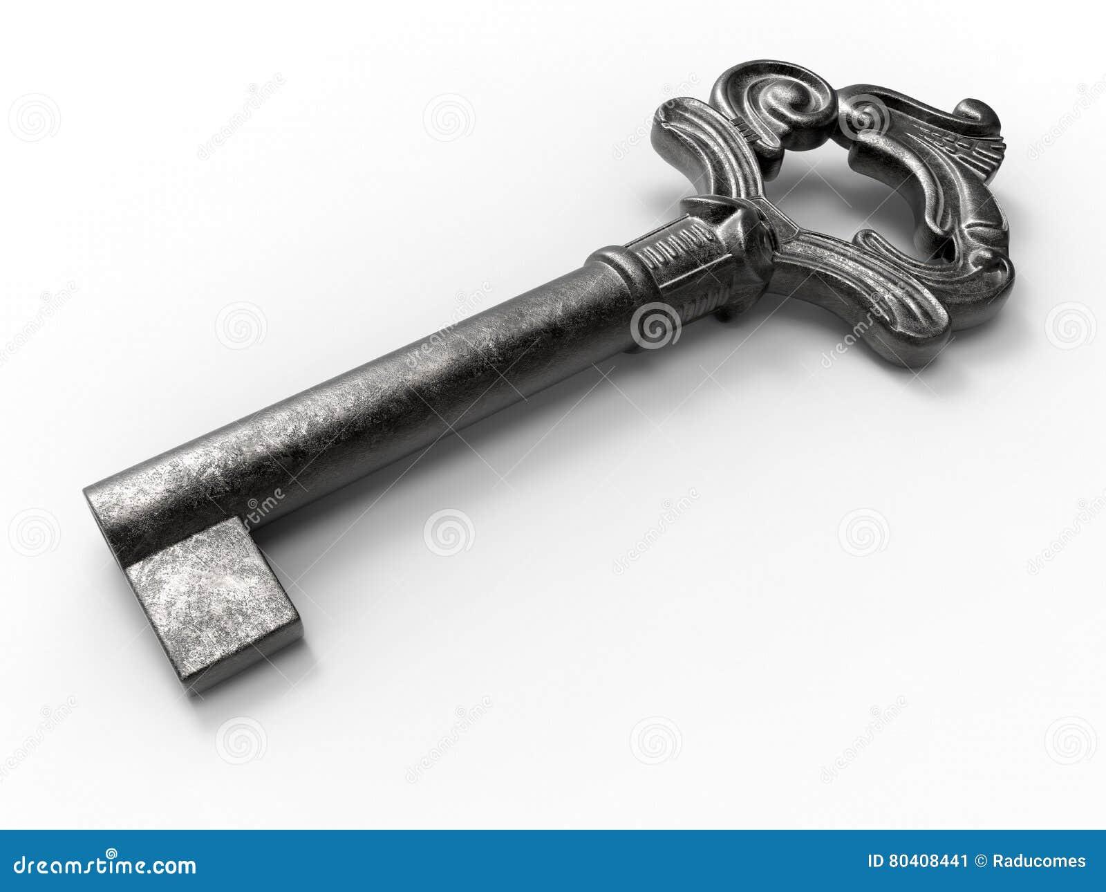 Vieille clé de fer