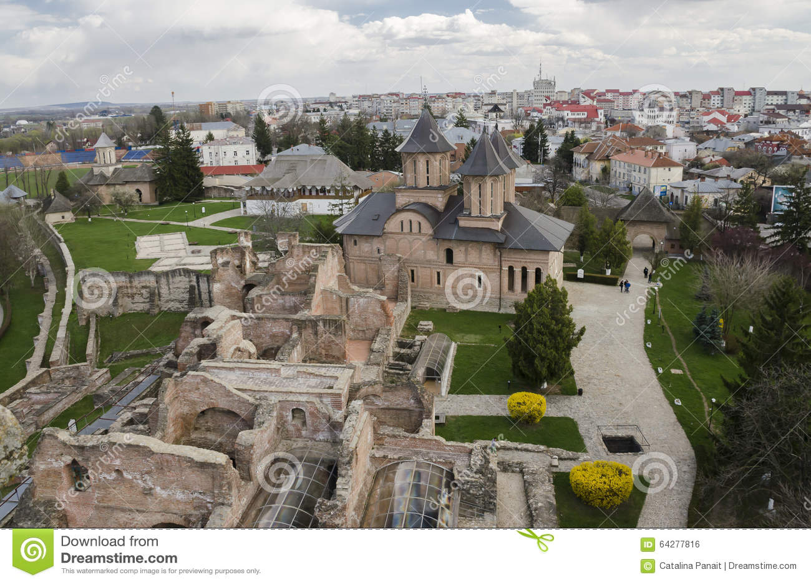 Vieille cour royale dans Targoviste, Roumanie
