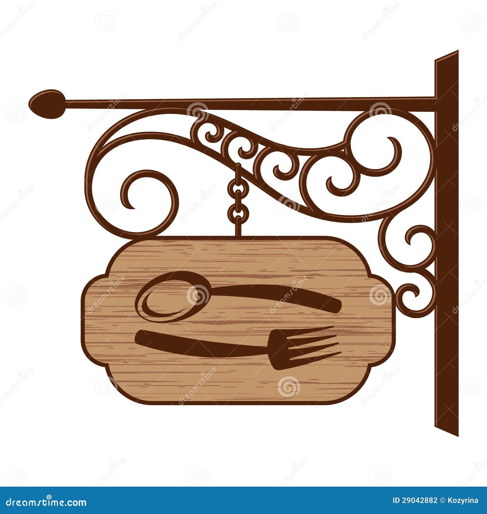 Enseigne En Bois Personnalisé - Vieille enseigne en bois illustration de vecteur Illustration du décoration 29042882