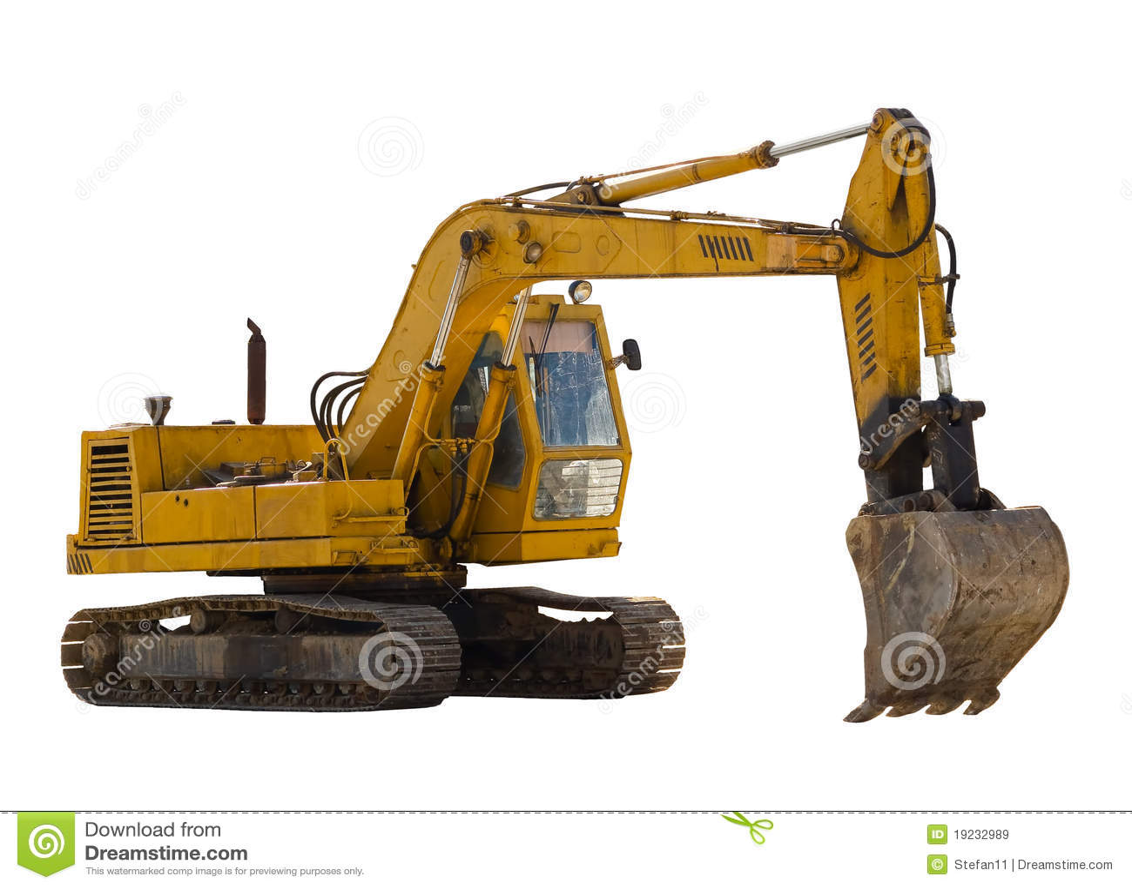 Vieille excavatrice