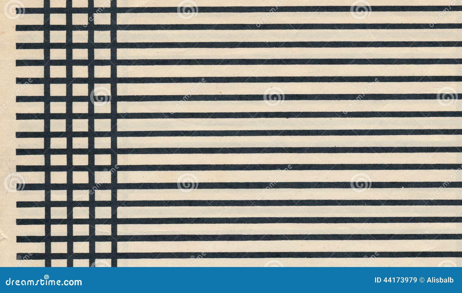 vieille feuille de papier de page avec la ligne noire fond photo stock