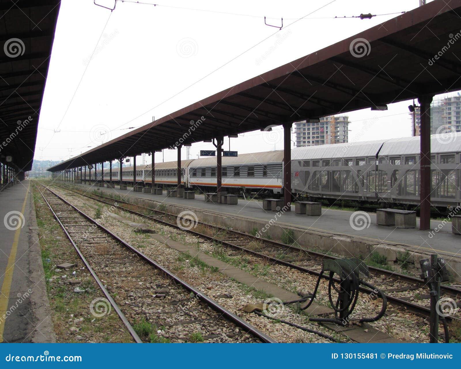 Vieille gare ferroviaire à Belgrade