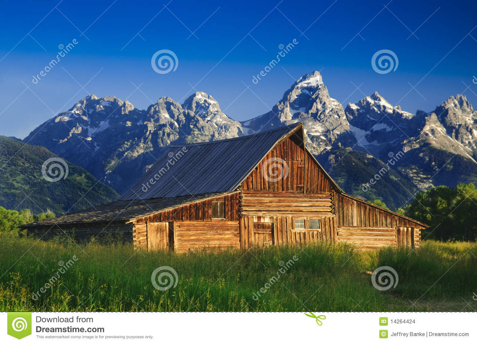 Vieille grange mormone dans le Tetons