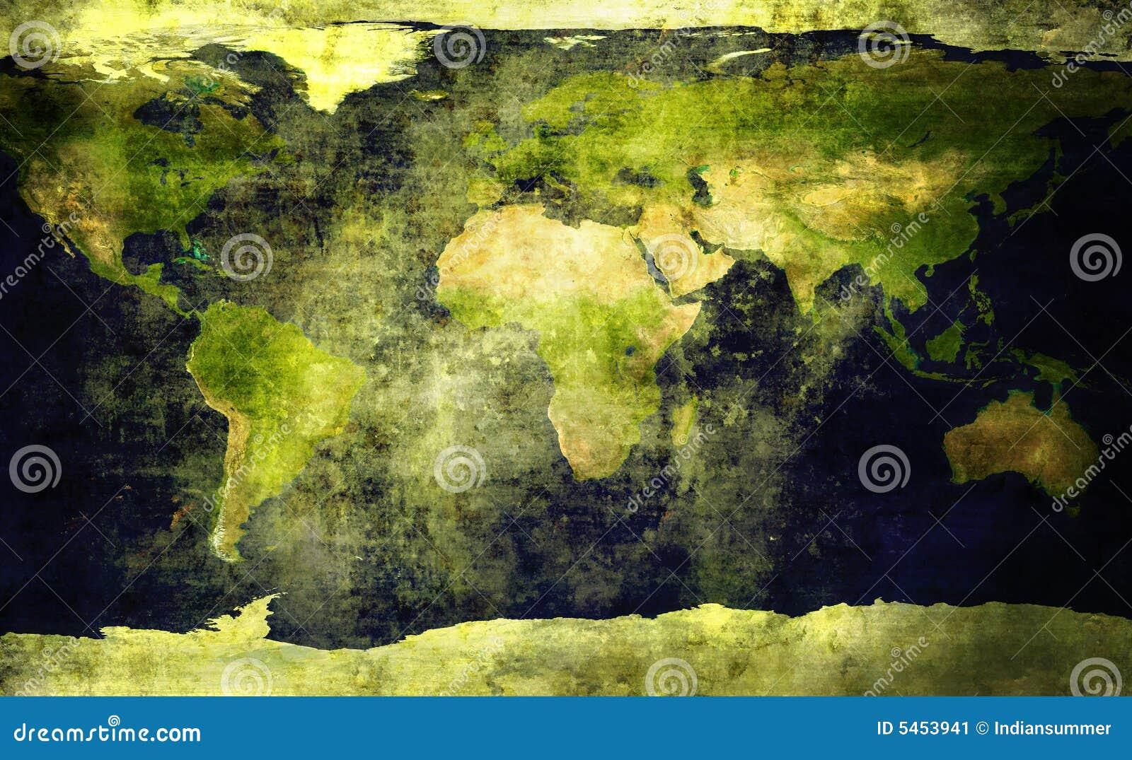 Vieille, grunge carte du monde