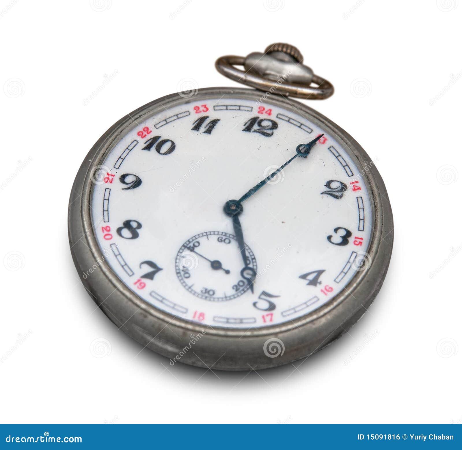 Vieille Horloge De Poche Image libre de droits  Image  ~ Vieille Horloge En Bois