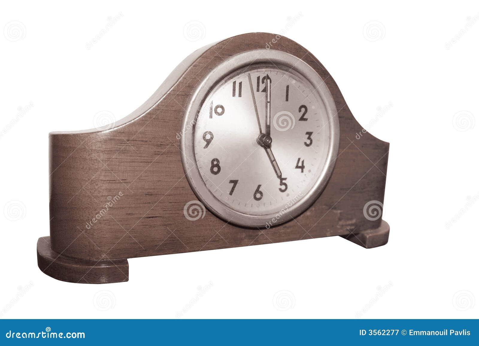 Vieille Horloge En Bois Photographie stock libre de droits  ~ Vieille Horloge En Bois