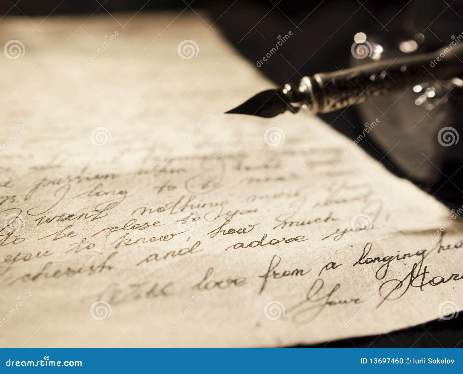 Vieille lettre d'amour photo stock. Image du amour, lettre - 13697460