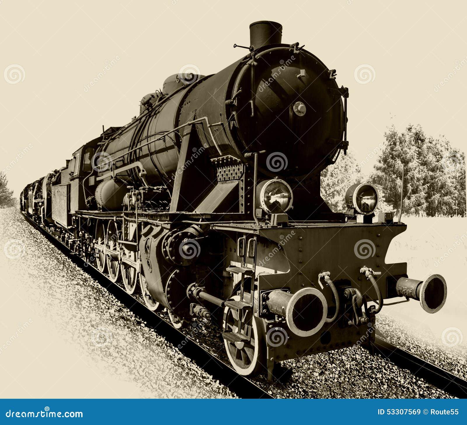 Vieille locomotive de machine à vapeur